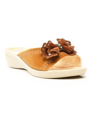 Шлепанцы коричневые | 5120049