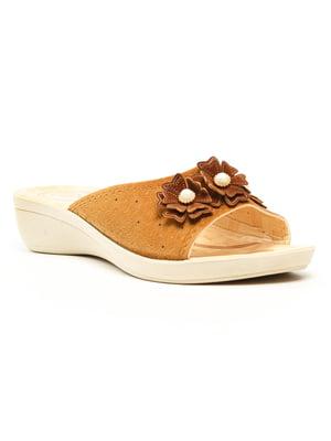 Шльопанці коричневі | 5120059
