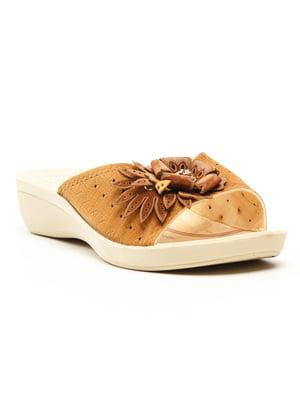 Шльопанці коричневі | 5120050