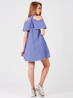 Платье синее в клетку | 5142637