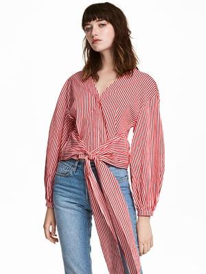 Блуза красно-белая | 5132634