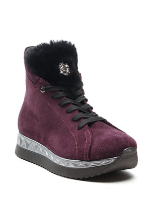 Ботинки баклажанового цвета   5142879