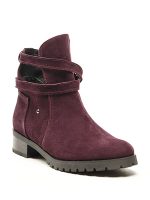 Ботинки баклажанового цвета   5142899