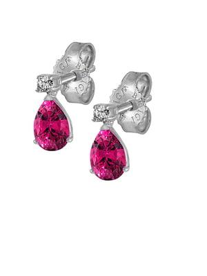 Серьги золотые с бриллиантами и топазами | 5124949