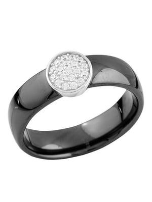 Каблучка срібна з керамікою і цирконіями   4674311