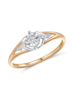 Каблучка золота з діамантами | 4488165