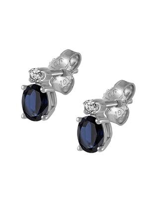 Серьги с бриллиантами и сапфирами | 5124864