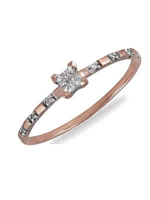 Каблучка золота з діамантами | 4488179