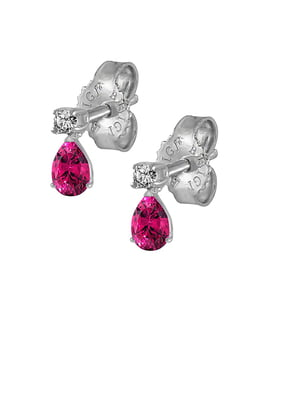 Серьги золотые с бриллиантами и топазами | 5124899