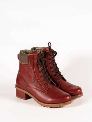 Ботинки бордовые | 5150323