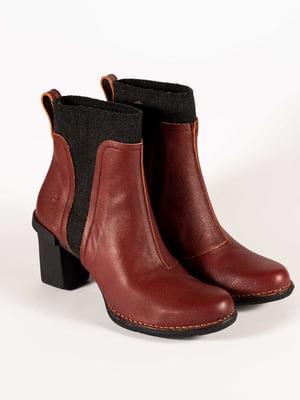 Ботинки бордовые | 5150325