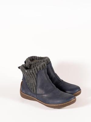 Ботинки синие | 5150362