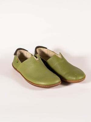 Мокасины зеленые | 5150386