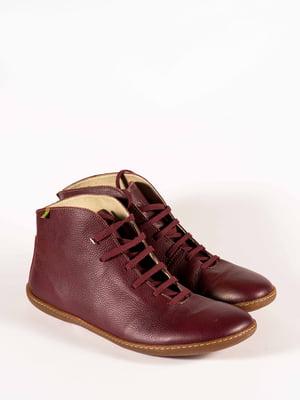 Ботинки бордовые | 5150388
