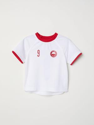 Футболка біло-червона | 5148477