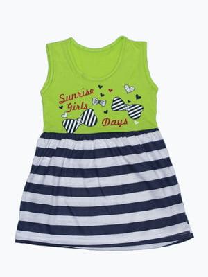 Платье комбинированной расцветки | 5151461