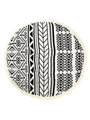 Пляжный коврик «Мандала» белый | 5150793