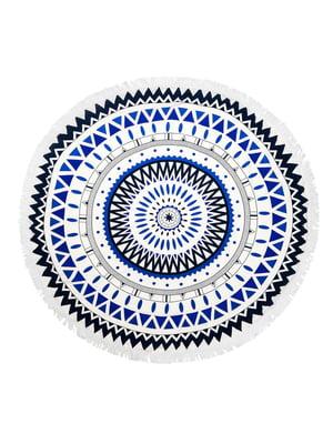 Пляжный коврик «Мандала» белый | 5150794
