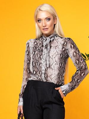 Блуза анималистической расцветки | 5151617