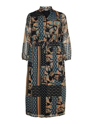 Платье черное с принтом | 5151875