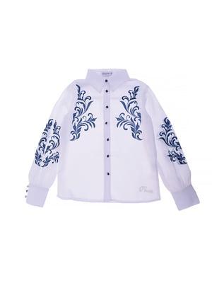 Блуза біла з принтом | 5152707