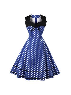 Сукня синя в горошок | 5154037