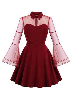 Сукня бордова | 5154134