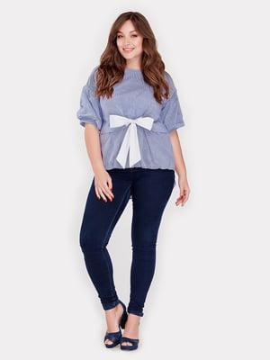 Блуза синяя | 3802345