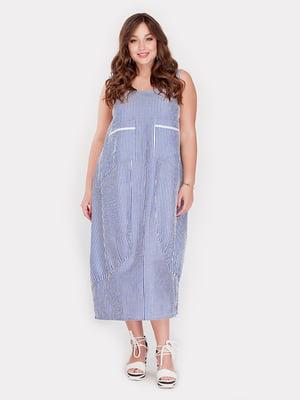 Платье голубое в полоску | 5105065