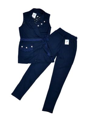 Костюм школьный: брюки и кардиган | 5155379