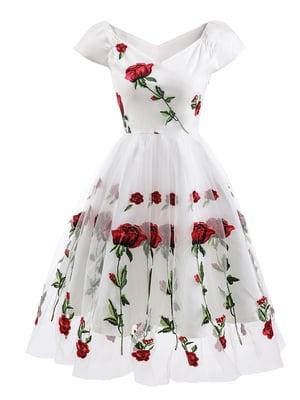 Сукня біло-червона | 5156121