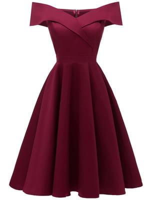 Сукня кольору червоного вина | 5156142
