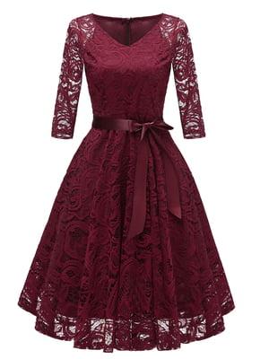 Сукня кольору червоного вина | 5156171