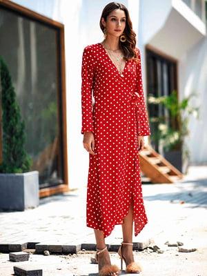 Платье красное в горошек   5157863