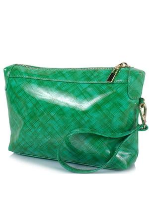Косметичка зелена в принт | 5157006