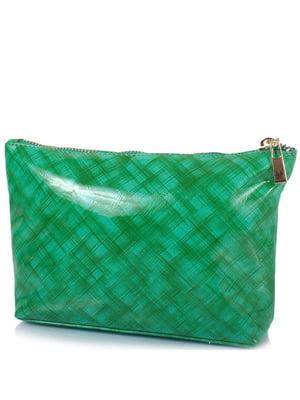 Косметичка зелена в принт | 5157007