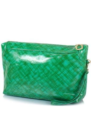 Косметичка зелена в принт | 5157009