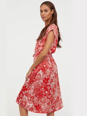 Сукня червона в принт   5113181