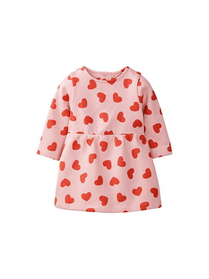 Платье розовое в принт | 5153758