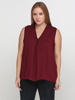 Блуза бордова | 5159626