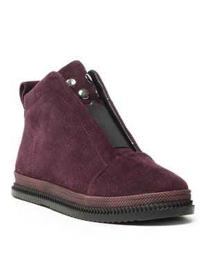 Ботинки баклажанового цвета   5142884
