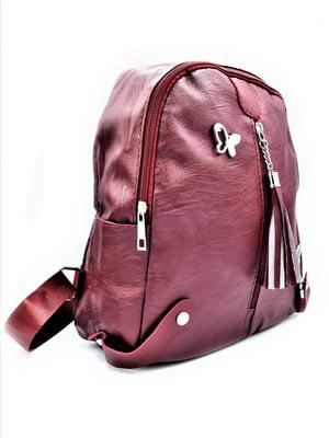 Рюкзак бордовий | 5161922