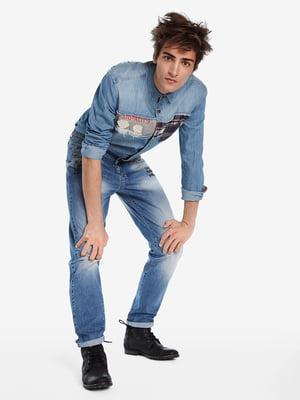 Рубашка джинсовая голубая   5143151