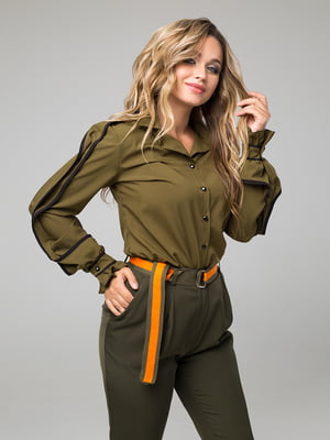 Блуза цвета хаки   5162846