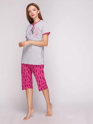 Пижама: футболка и бриджи | 5159241