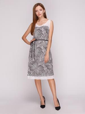 Платье белое в черный горох | 5163566