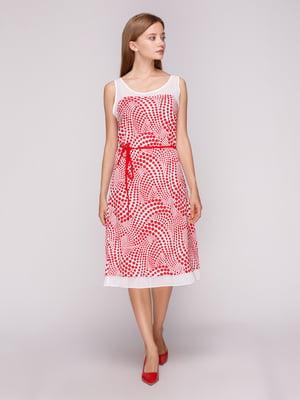 Платье белое в красный горох | 5163565