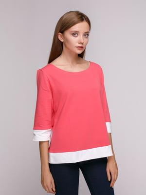 Джемпер рожево-білий | 5163559