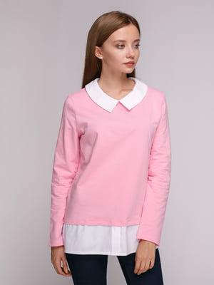 Джемпер рожево-білий | 5163572