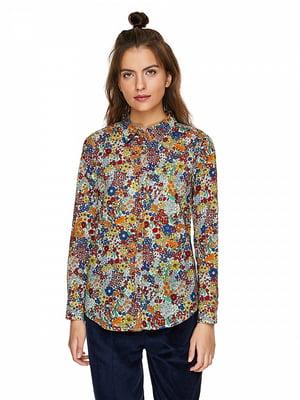 Рубашка в цветочный принт | 5149938